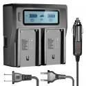 Chargeur de Batterie en Double Canaux avec Écran LCD Pour Sony