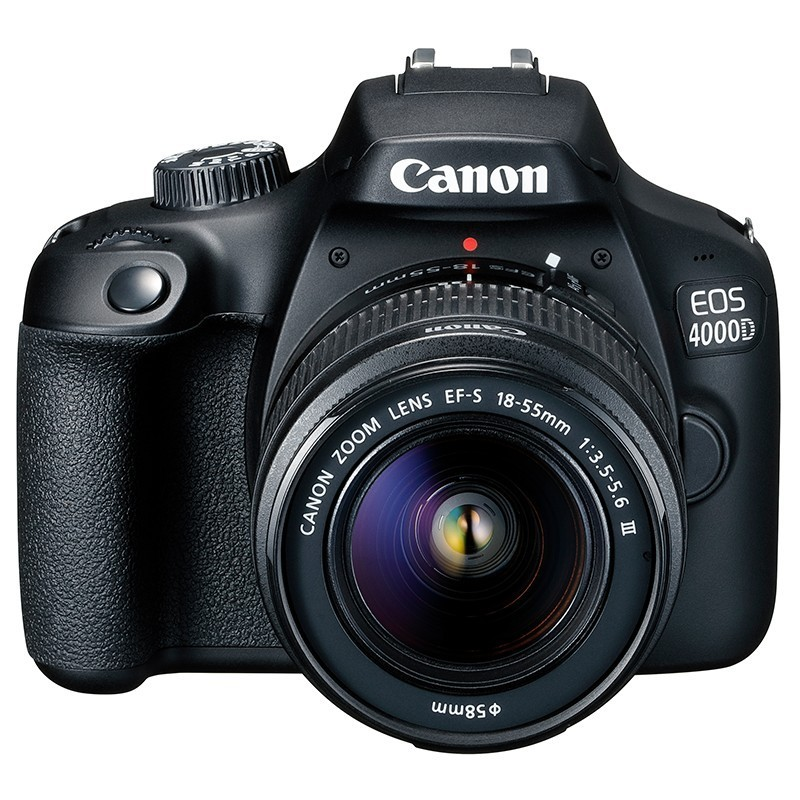 Reflex Canon EOS 4000D  + Objectif EF-S 18-55 mm f/3.5-5.6 III