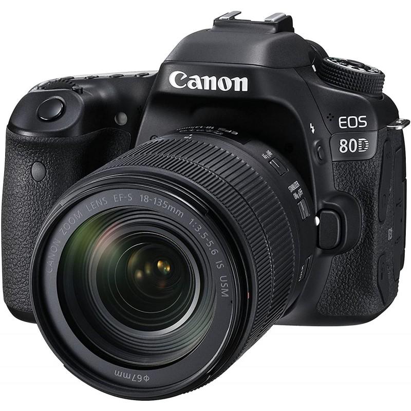 REFLEX CANON EOS 80D + OBJECTIF 18-135mm IS US