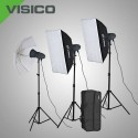 Kit Flash Studio VISICO VL 300PLUS