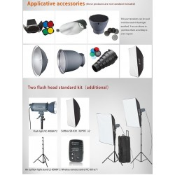 Kit Flash Studio VISICO 300W