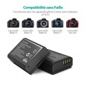 Pack de chargeur et 2 Batteries LP-E10