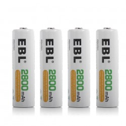 LOT DE 4 PILES AA RECHARGABLES 2800MAH