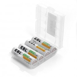 Lot de 4 Piles AA Rechargeables 2800mAh