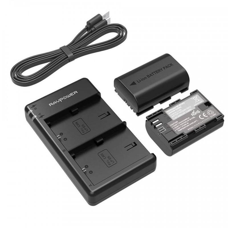Lot de 2 Batteries & chargeur