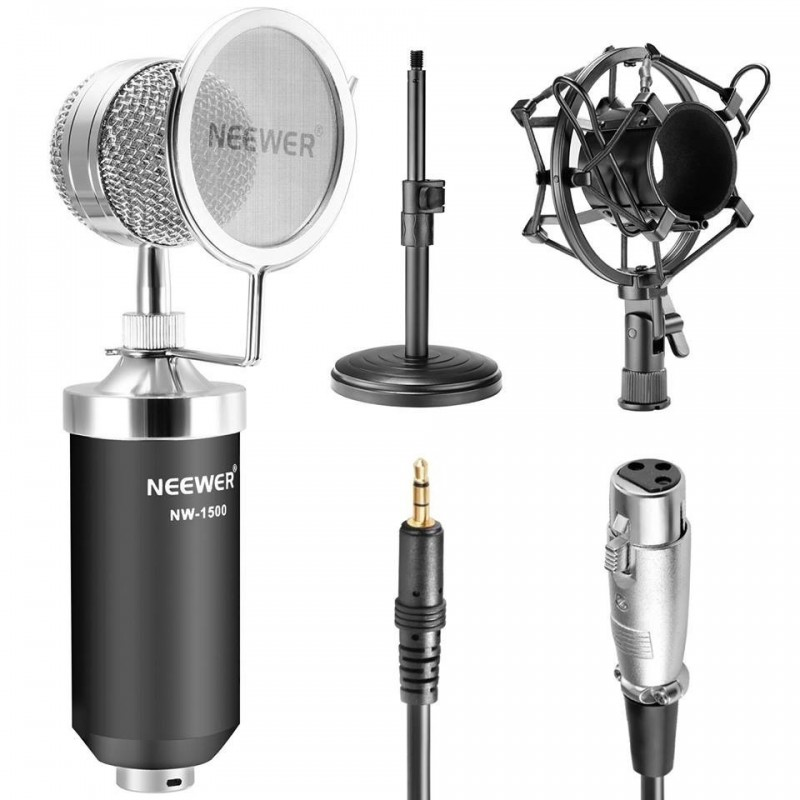 Microphone à Condensateur Broadcast & Record Bureau Professionnel
